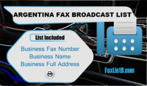 ARGENTINA FAX BROADCAST LIST
