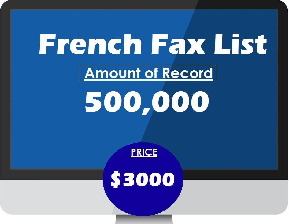 Buy French fax list