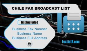 CHILE FAX BROADCAST LIST