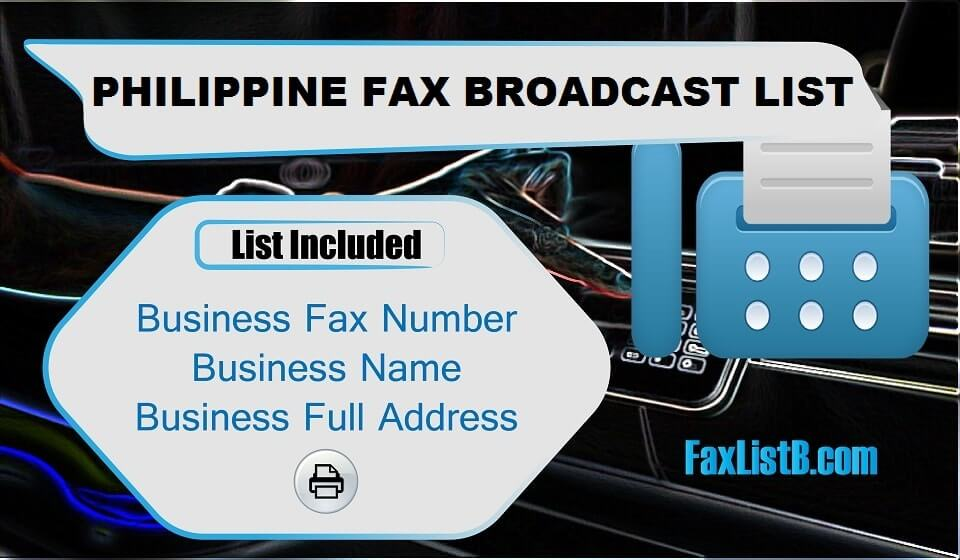 PHILIPPINE FAX BROADCAST LIST