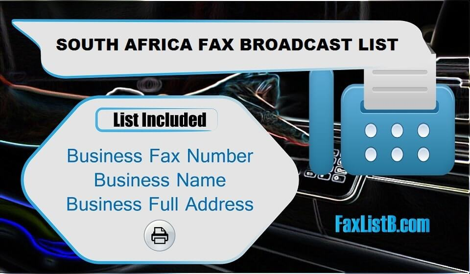 SOUTH AFRICA FAX BROADCAST LIST